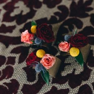 audubon park wedding floral décor craspedia wristlet kim starr wise floral design