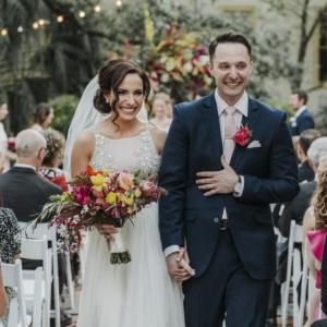 new orleans spring wedding floral arrangements kim starr wise vibrant spring wedding florals bride and groom