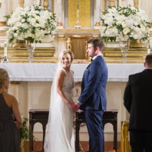 new orleans wedding floral arrangements kim starr wise latrobes ceremony church altar floral arrangements