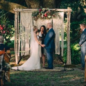 new orleans wedding floral arrangements kim starr wise audubon park wedding ceremomy