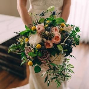 new orleans wedding floral arrangements kim starr wise bridal bouquet front