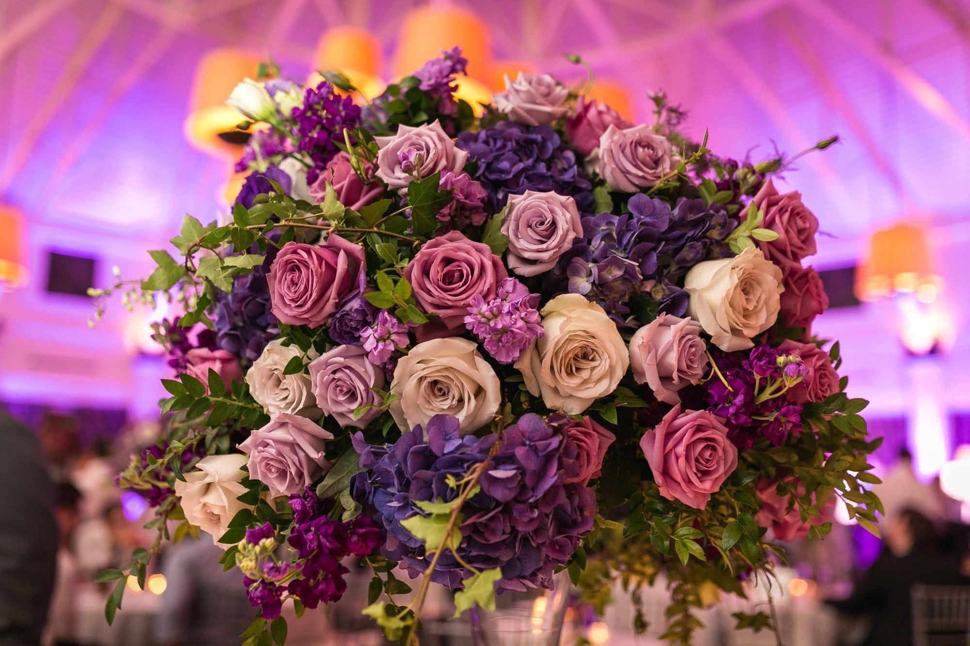 BOLD COLORED ROSES FLOWER ARRANGEMENT